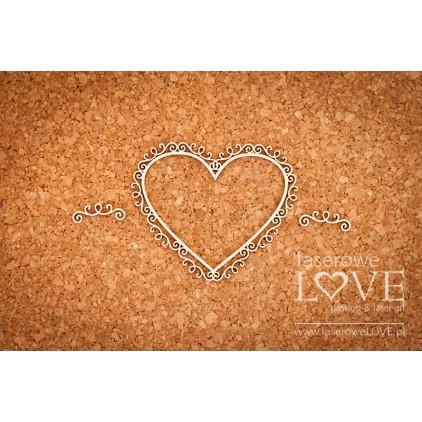 Laserowe LOVE - tekturka Ramka serce ornamenty rycerskie - Paroles