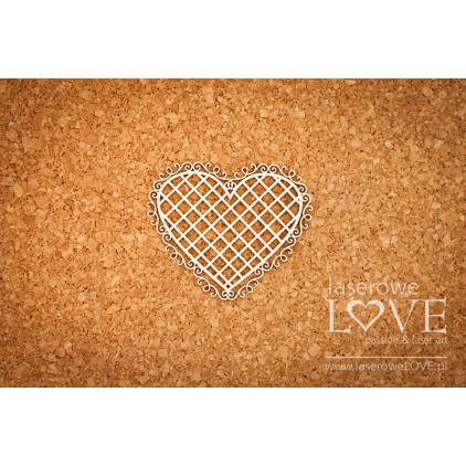 Laser LOVE - cardboard Heart frame knight ornaments - Grid - Paroles