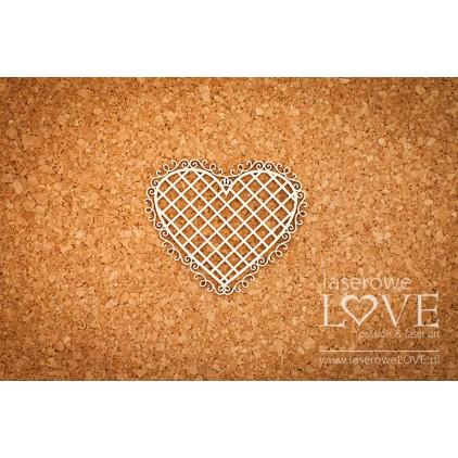 Laserowe LOVE - tekturka Ramka serce ornamenty rycerskie - Siatka - Paroles