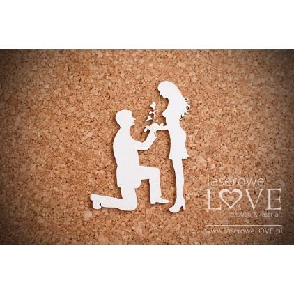 Laserowe LOVE - tekturka Oświadczyny