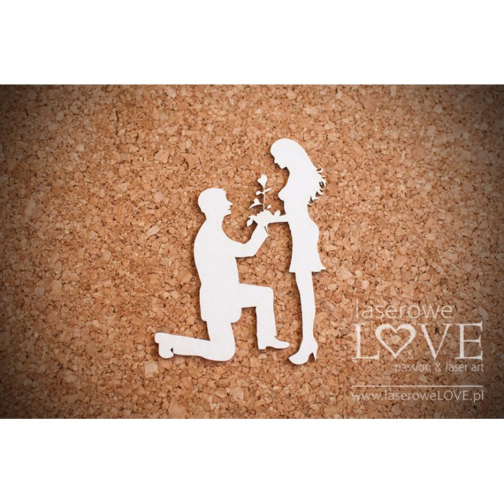 Laser LOVE - cardboard offer of marriage