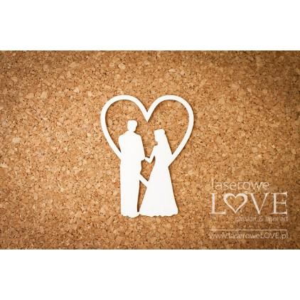 Cardboard Couple under the heart - Old Town -LA16072705 - Laserowe LOVE