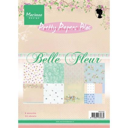 Marianne Design - Pad of scrapbooking papers - Belle Fleur