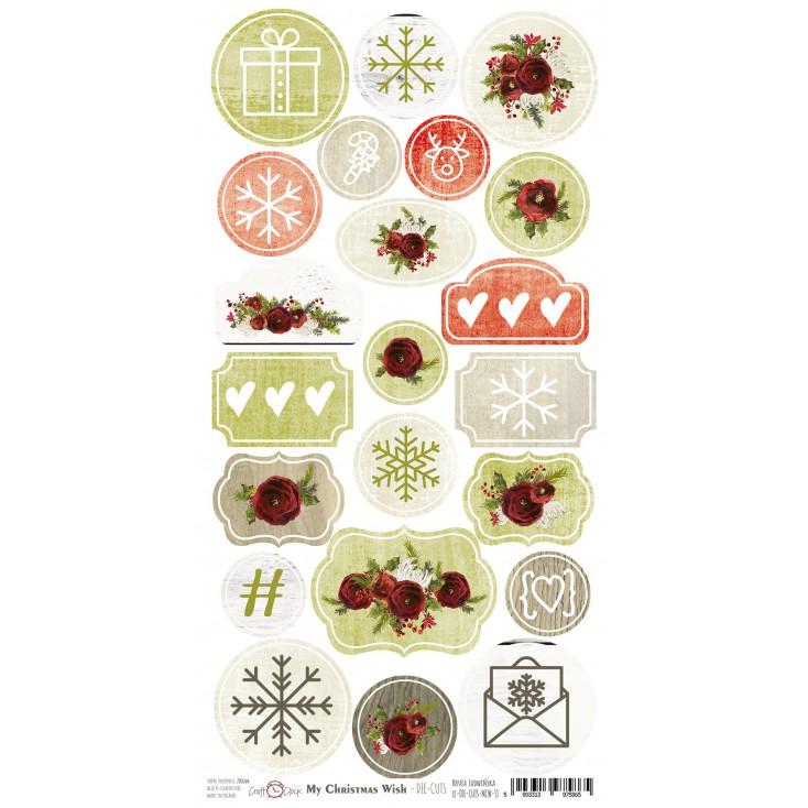 Craft O Clock -My Christmas Wish - arkusz die-cuts