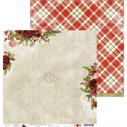 Scrapbooking paper - Craft O Clock - My Christmas Wish - 03