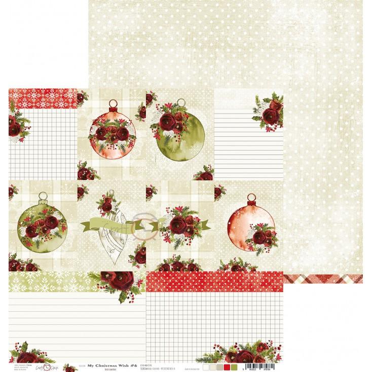 Papier do tworzenia kartek i scrapbookingu - Craft O Clock - My Christmas Wish - 06