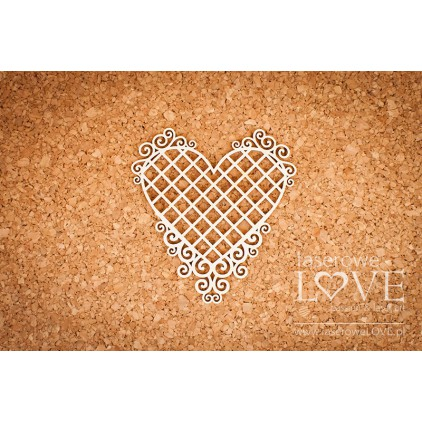 Laser LOVE - cardboardHeart frame with noble ornaments - Grid - Paroles