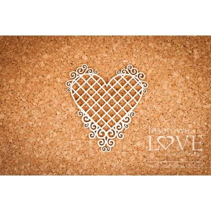 Laserowe LOVE - tekturka Ramka serce ornamenty szlacheckie - Siatka - Paroles