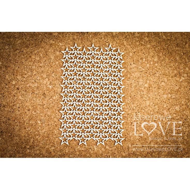 Laserowe LOVE - tekturka Gwiazdki - tło Le Astre