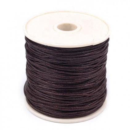 Sznurek woskowany - Ø1mm - szpula - ciemny brązowy