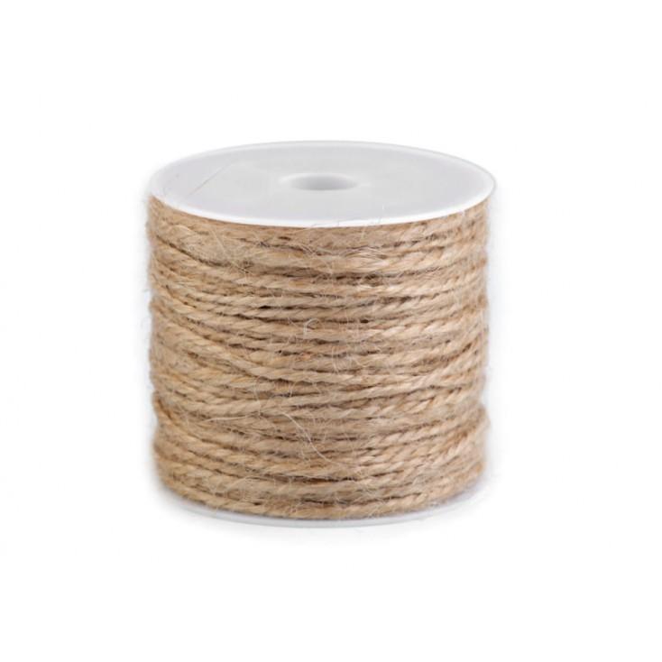 Sznurek sizalowy - Ø1,5 mm - naturalny