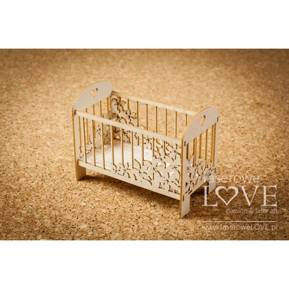 Laser LOVE - cardboard Big crib 3D - Flower