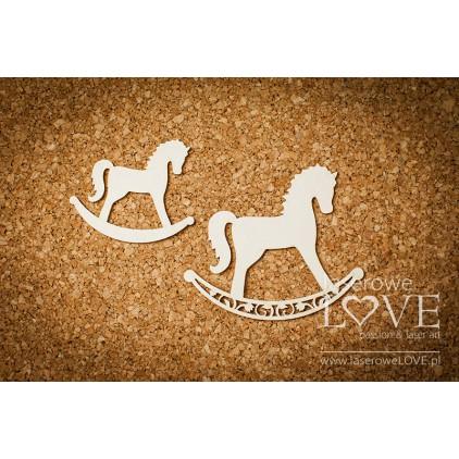 Laser LOVE - cardboard Rocking horse - Baby lily