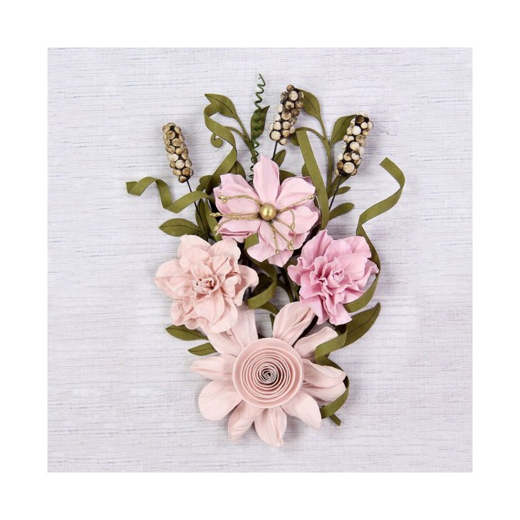 Paper flower set - Little Birdie - Caila Blush - 16 elements.