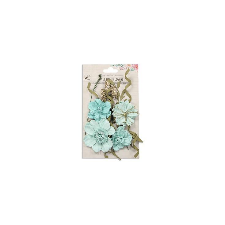Papierowe kwiaty do rękodzieła - Little Birdie - Elsie Celeste -16 elementów