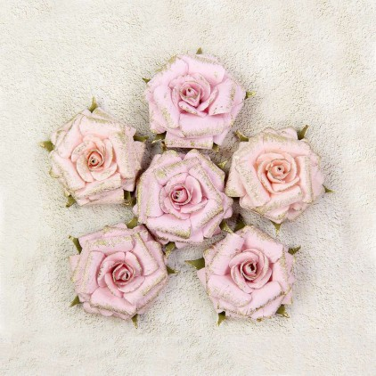 Paper flower set - Little Birdie - Victorian Attis - 6 flowers.