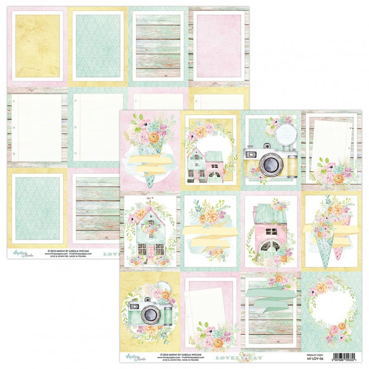 Scrapbooking paper - Mintay Papers - -Lovely Day 06