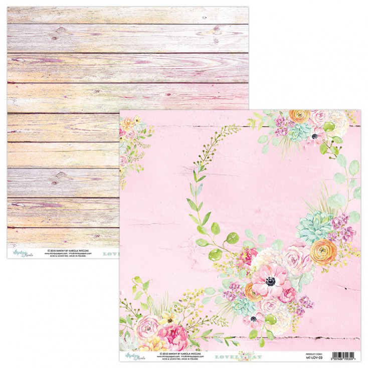 Scrapbooking paper - Mintay Papers - -Lovely Day 03
