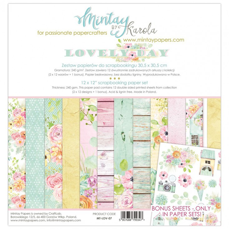 Scrapbooking paper set - Mintay Papers - Lovely Day