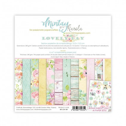 Scrapbooking paper pad - Mintay Papers - Lovely Day