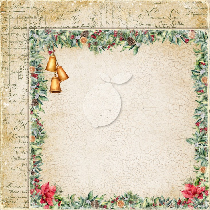 Dwustronny papier do scrapbookingu - Yuletide 02