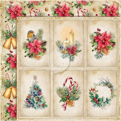 Dwustronny papier do scrapbookingu - Yuletide 01