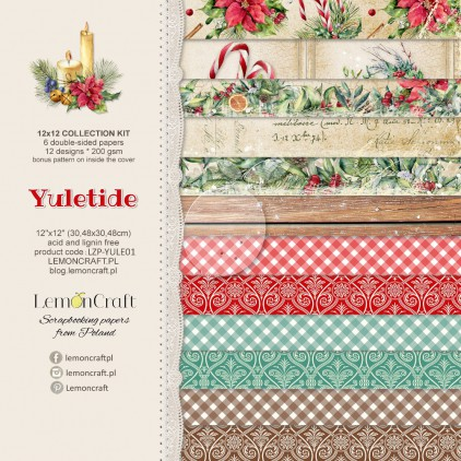 Set of scrapbooking papers - Yuletide