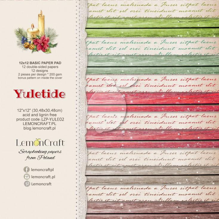 Bloczek papierów bazowych do scrapbookingu - Yuletide Basic