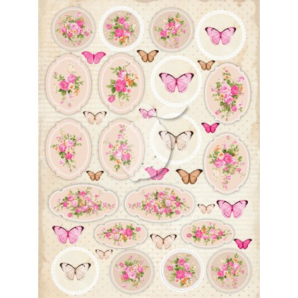 One-sided scrapbooking paper - Vintage Time 029