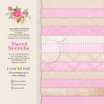 Bloczek papierów bazowych do scrapbookingu - Sweet Secrets