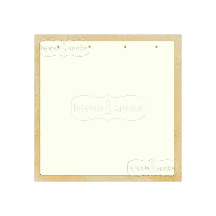 Latarnia Morska - Baza albumowa kwadratowa z dziurkami 30x30 cm
