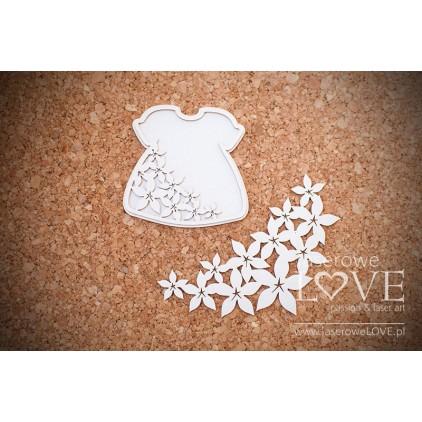 Laserowe LOVE - tekturka Sukienka córka Flower