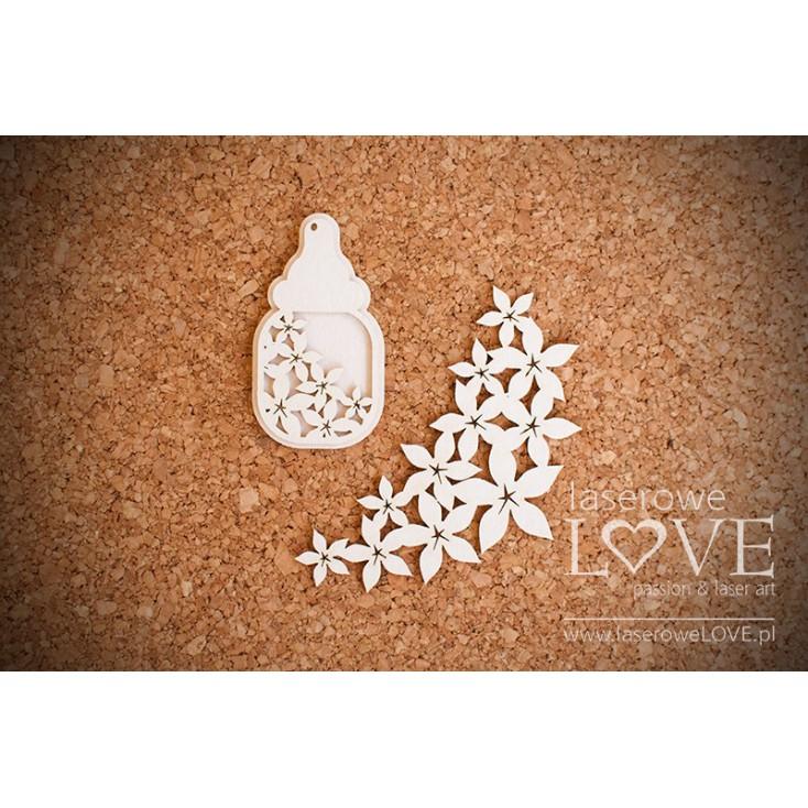 Laser LOVE - cardboard ornament Bottle Flower