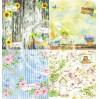 Zestaw papierów do tworzenia kartek i scrapbookingu - Bee Shabby - My Gardening