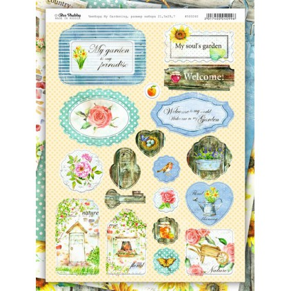 Set of chipboards - Bee Shabby - My Gardening