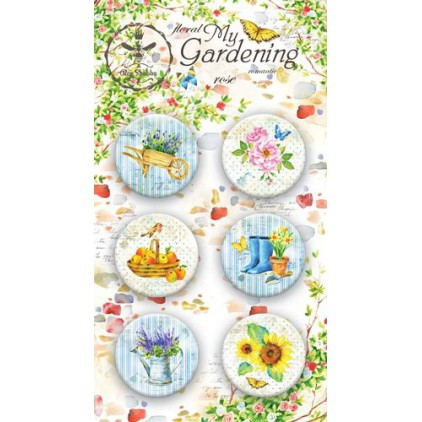 Buttons badges - 500250 - My Gardening - Bee Shabby