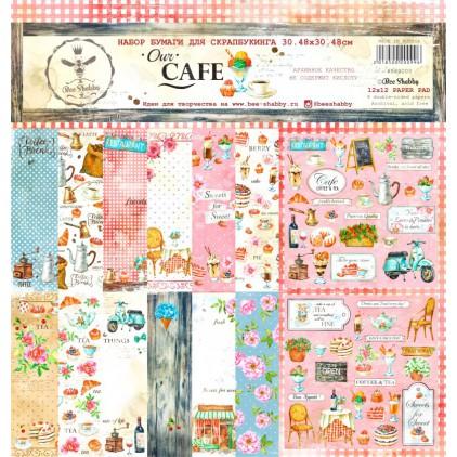 Zestaw papierów 30 x 30 cm - Our Cafe - 500200 - Bee Shabby