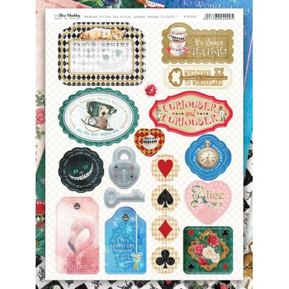 Chipboards kształty z tektury - Follow the Alice -760240 - Bee Shabby
