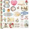 Zestaw papierów do tworzenia kartek i scrapbookingu - Bee Shabby - Follow the Alice