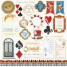 Set of scrapbooking papers - Bee Shabby - Follow the Alice