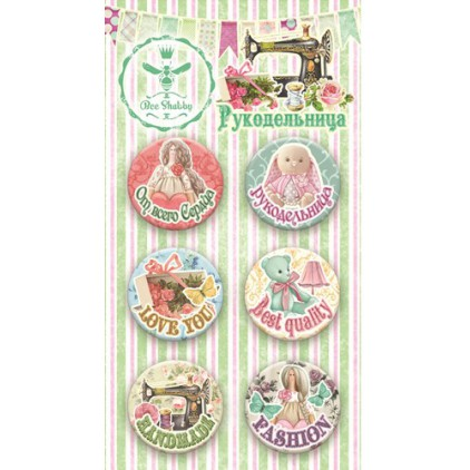 Buttons badge - Craftsgirl - 300250 - Bee Shabby