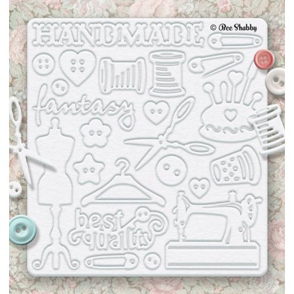 Bee Shabby - Chipboard set - Needlewoman