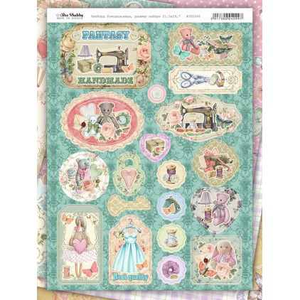 Set of chipboards - Bee Shabby - Needlewoman