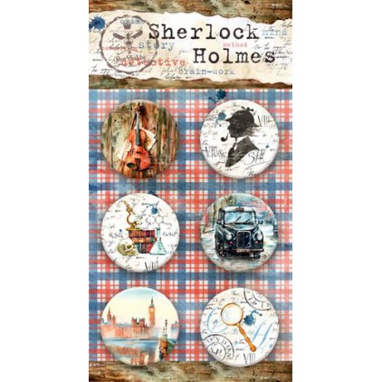 Buttons badges - Sherlock Holmes - 200250 - Bee Shabby