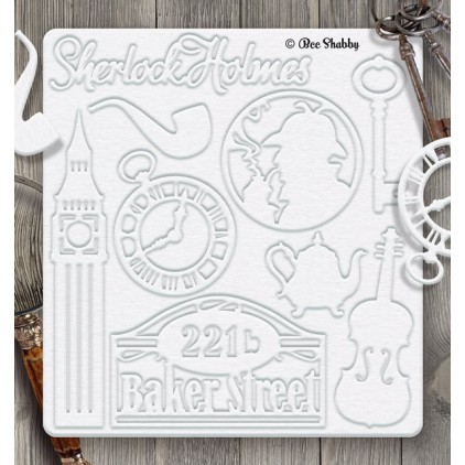 Bee Shabby - Chipboard set - Sherlock Holmes