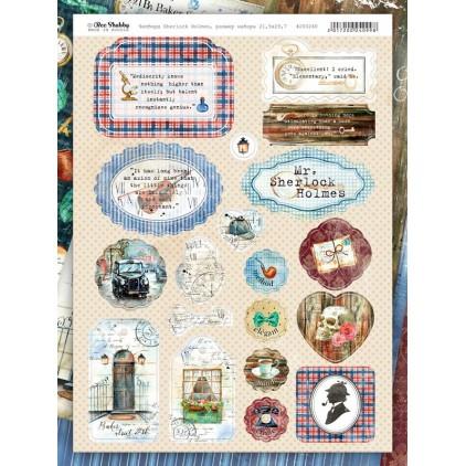 Chipboards kształty z tektury- Sherlock Holmes - 200240 - Bee Shabby