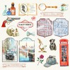 Set of scrapbooking papers - Bee Shabby - Sherlock Holmes