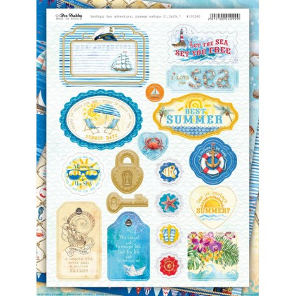 chipboards kształty z tektury - SEA adventure - 100240 - Bee Shabby