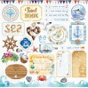 Set of scrapbooking papers - Bee Shabby - SEA adventure