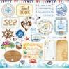 Zestaw papierów do tworzenia kartek i scrapbookingu - Bee Shabby - SEA adventure